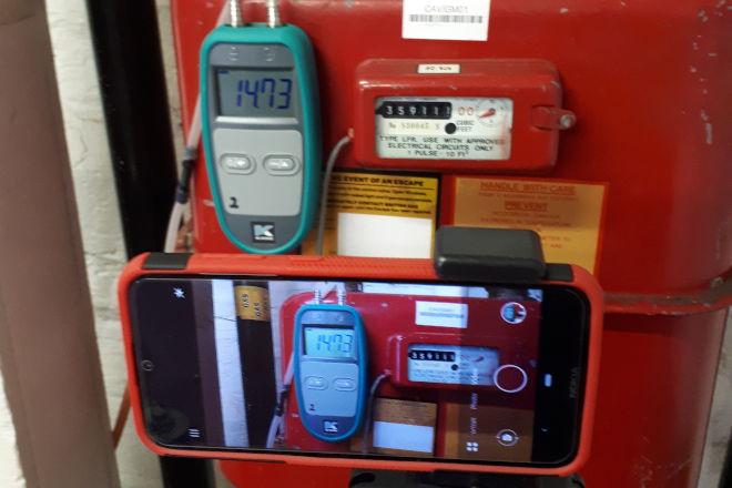 Meter and Pressure Monitor